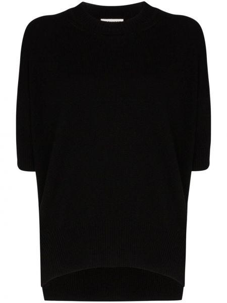Ażurowe czarne krótkie szorty krótki rękaw Jil Sander