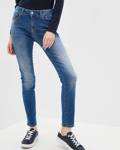 Синие зауженные джинсы Replay