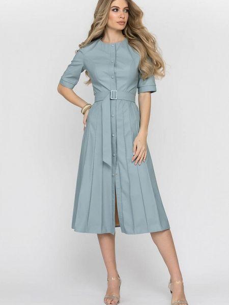 Платье кожаное весеннее Clever Woman Studio