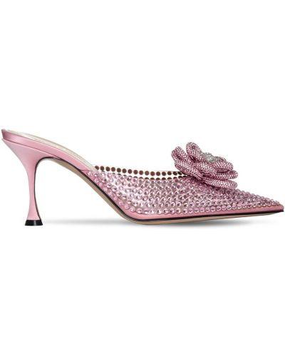Кожаные розовые туфли на каблуке Mach & Mach