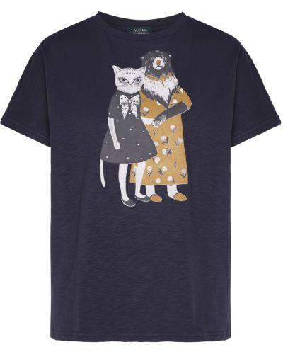 Хлопковая футболка - синяя Alena Akhmadullina