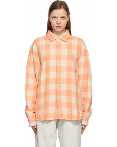 Рубашка с длинным рукавом - белая Stussy