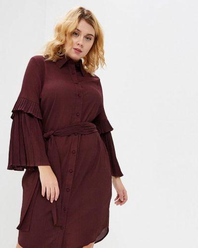 Повседневное платье осеннее красный Lost Ink Plus
