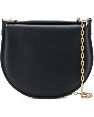 Кожаная сумка на плечо черная Stiebich & Rieth