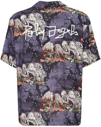 Czarny koszula z czaszkami Palm Angels