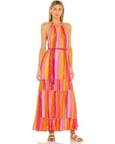 Розовое платье на бретелях Sundress