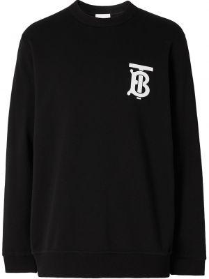 Bawełna bawełna czarny bluza z długimi rękawami Burberry
