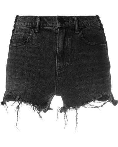 Серые джинсовые шорты Alexander Wang