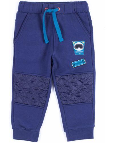 Брюки на резинке трикотажные темно-синий Coccodrillo