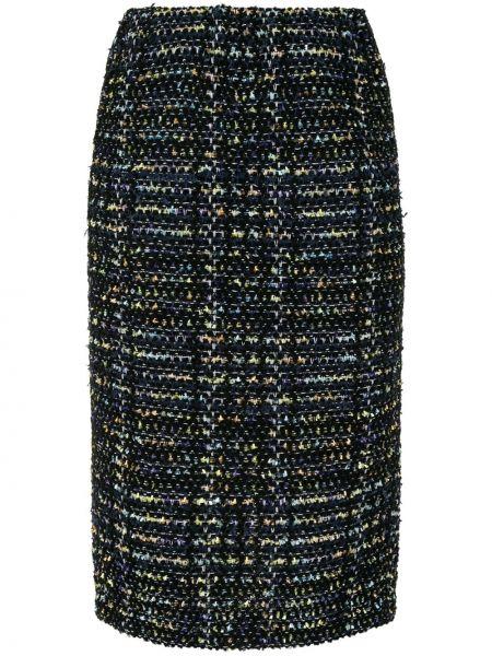 Прямая синяя с завышенной талией юбка карандаш на молнии Coohem