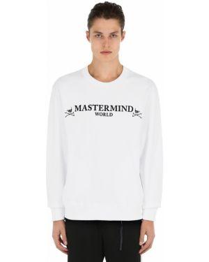 Biała bluza bawełniana z printem Mastermind World
