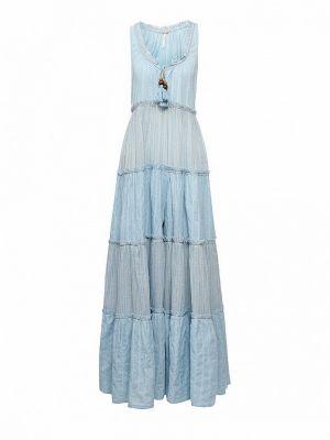 Голубое платье макси Free People