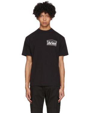 Koszula krótkie z krótkim rękawem z logo z kołnierzem Aries