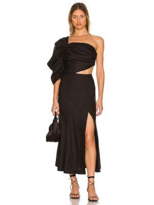 Lniana sukienka - czarna Lpa