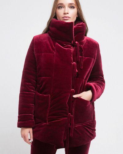 Утепленная куртка осенняя бордовый Malaeva
