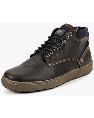 Ботинки осенние кожаные высокие Wrangler