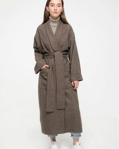 Пальто демисезонное зеленое Kira Mesyats