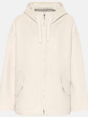 Пальто кашемировое белое Loro Piana