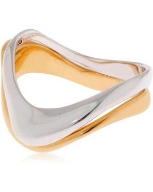 Złoty pierścionek pozłacany oversize Bar Jewellery
