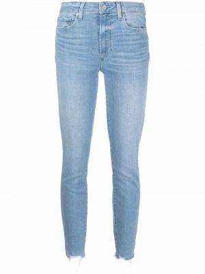 Облегающие синие зауженные джинсы классические Paige