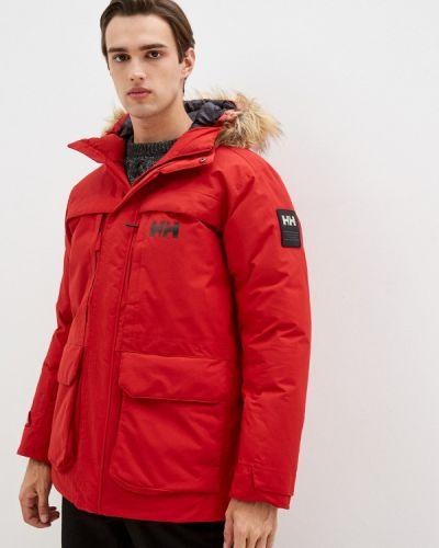 Красная утепленная куртка Helly Hansen