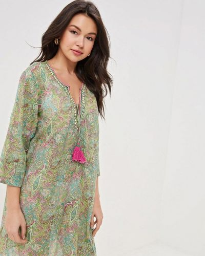 Пляжное платье - зеленое Venera