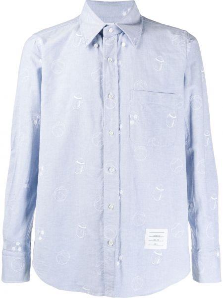 Koszula z długim rękawem klasyczna z kieszeniami Thom Browne