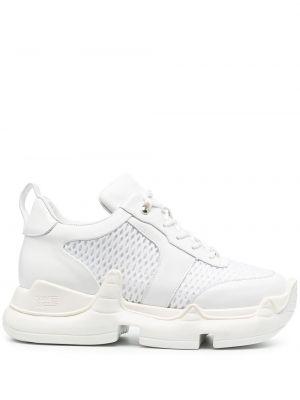 Białe sneakersy skorzane sznurowane Swear