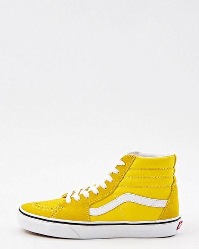 Текстильные желтые кеды Vans