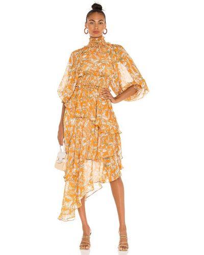 Деловое платье - оранжевое Elliatt