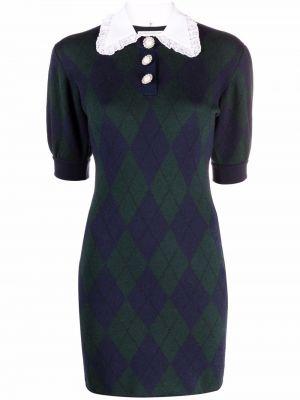 Платье мини короткое - зеленое Alessandra Rich