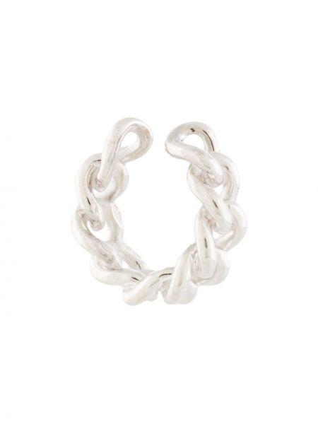Серебряные серьги-кольца E.m.