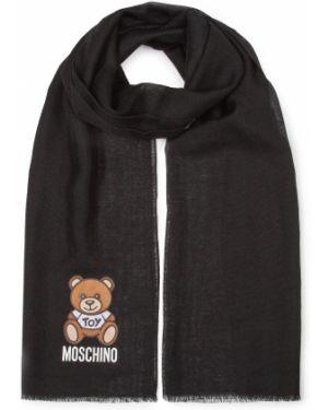 Czarna szal Moschino