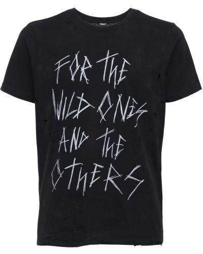 Czarny t-shirt bawełniany Other