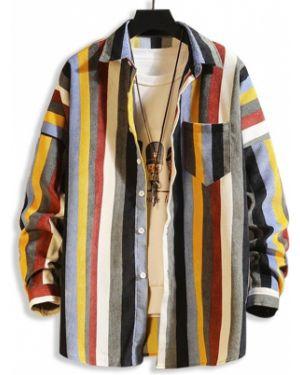 Рубашка в полоску с карманами Zaful