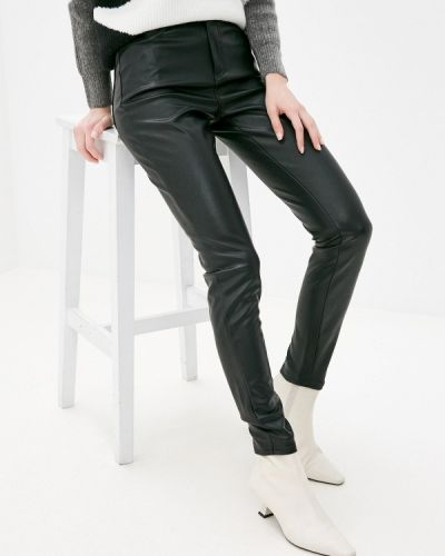 Серебряные кожаные брюки Wallis