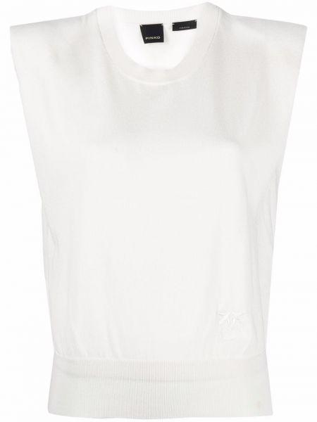 Топ без рукавов - белый Pinko