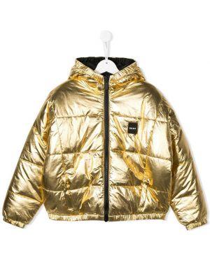 Куртка двусторонняя металлический Dkny Kids