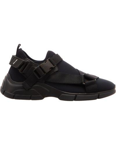 Черные кроссовки низкие Prada