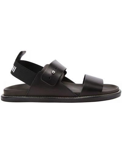 Открытые кожаные с ремешком сандалии Pollini