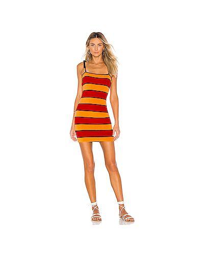Платье мини облегающее в полоску Solid & Striped
