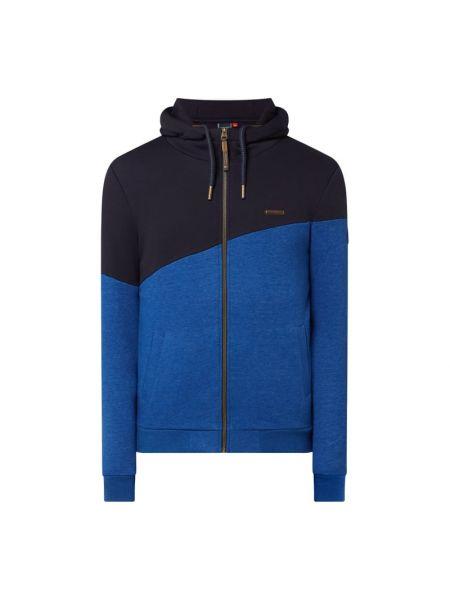 Niebieska bluza z kapturem rozpinana Ragwear