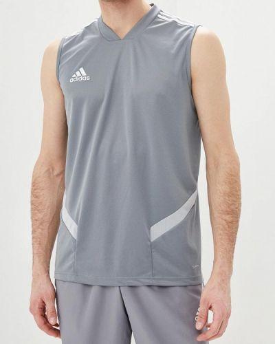 Серая спортивная майка Adidas