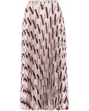Плиссированная юбка миди с цветочным принтом Valentino