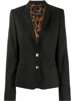 Приталенная черная куртка с манжетами на пуговицах Dolce & Gabbana Pre-owned