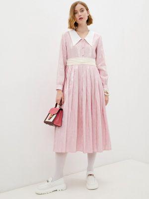 Розовое платье рубашка Sister Jane