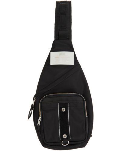 Czarny włókienniczy torba kosmetyczna z kieszeniami Diesel