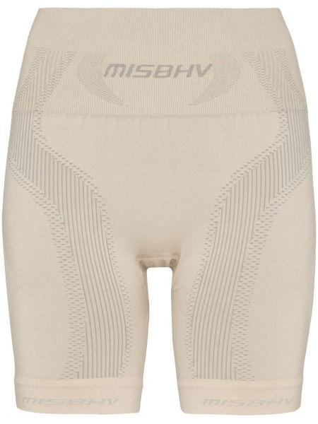 Sport szorty na wysokości beżowy Misbhv