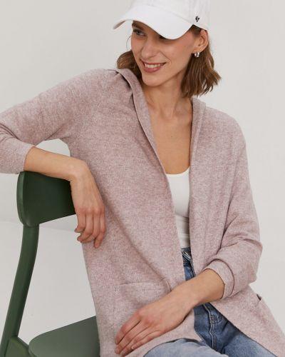 Różowy długi sweter dzianinowy z długimi rękawami Vero Moda