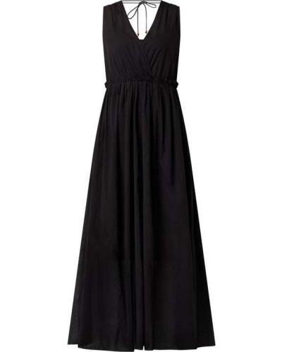 Sukienka rozkloszowana z falbanami - czarna Ilse Jacobsen